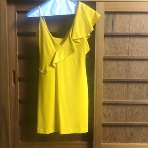 Amanda Uprichard yellow mustard mini dress